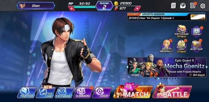 The King of Fighters ALLSTAR evolução