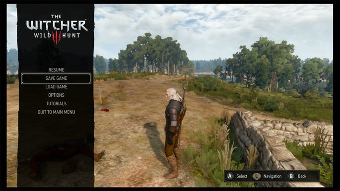 The Witcher 3 dicas save game