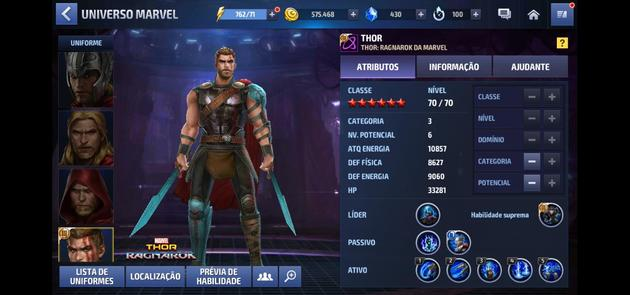 Marvel Future Fight - Thor Categoria 3