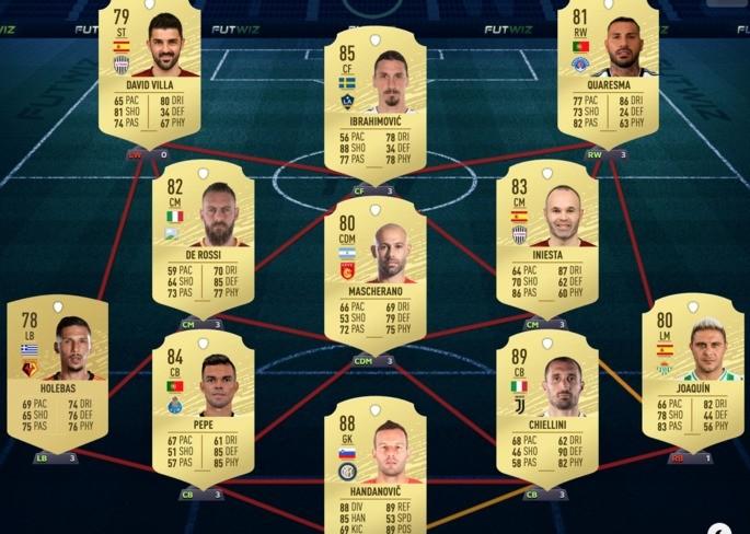 Time de Veteranos FIFA 20