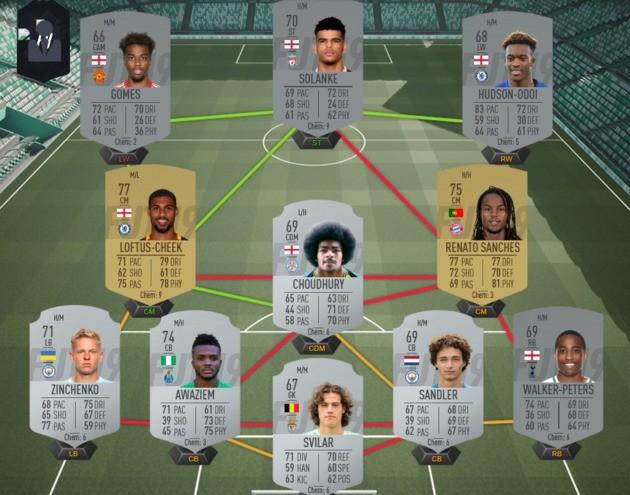 Time de jogadores para empréstimo - FIFA 19