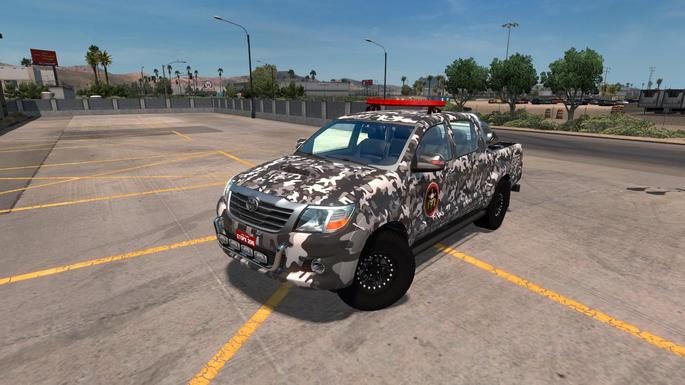 Toyota Picape da Polícia Brasileria mod Euro Truck Simulator
