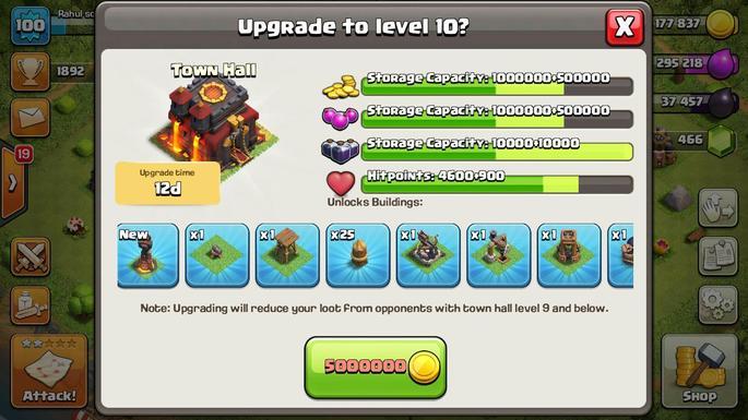 Upgrade de unidades em Clash of Clans