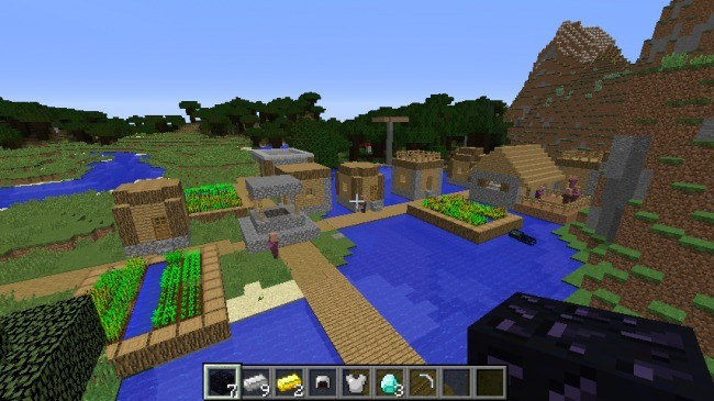 Pueblo acuático - Semillas minecraft