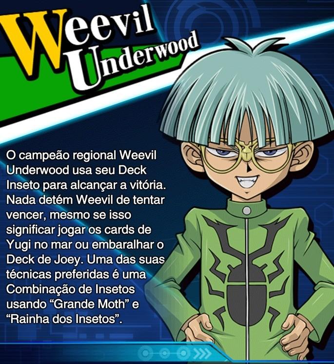 weevil underwood habilidades duel links